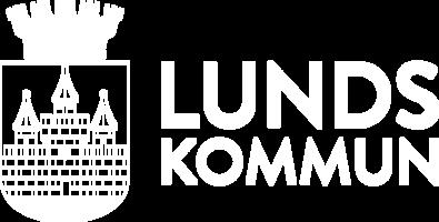 Lunds kommun logo horisontell  vit
